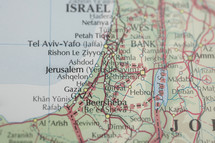 Map of Israel and Jordan
