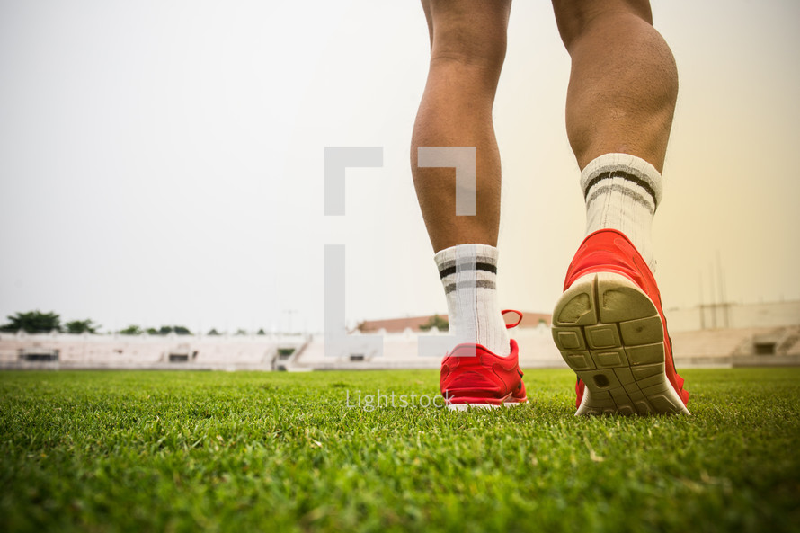 athlete on a field