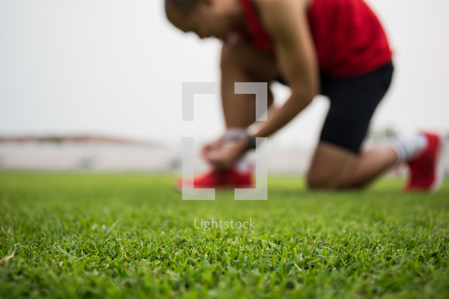 athlete on a sports field