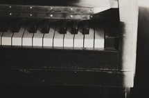 dusty old piano