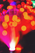 out of focus fibre optic lamp