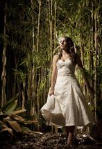 bride walking outdoors
