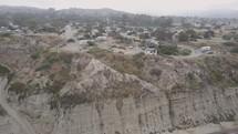 cliffs and beach shoreline