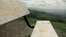Park bench on a mountain top | Empty Bench | Alone | Solitude |
