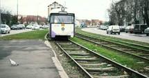 train and train tracks in Timișoara, Romania