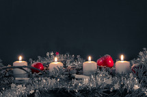 Christmas candles and garland