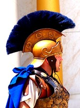 Roman Centurion Army General wearing a helmet