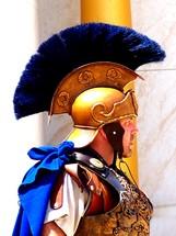 Roman Centurion Army General wearing a helmet