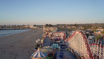 Beach boardwalk amusement park
