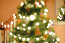 blurry picture of a Christmas tree
