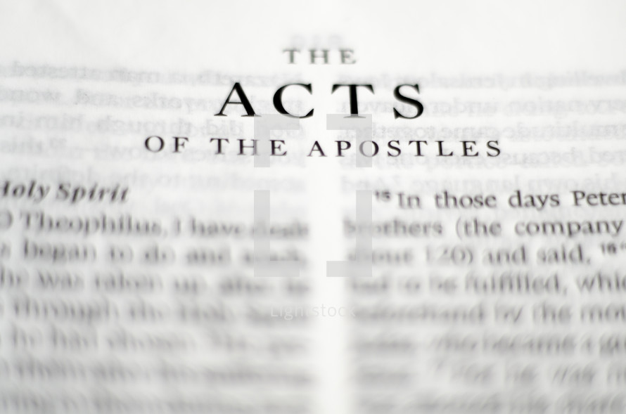 Title of the book of Acts up close