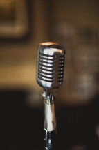 An old-fashioned microphone