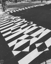 crosswalk on a road