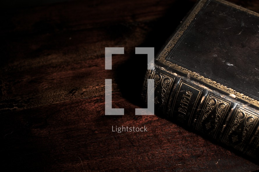 An old-fashioned Bible