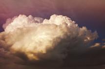 a vivid storm cloudscape