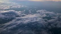 Atmospheric cloud worship visual shot at sunset