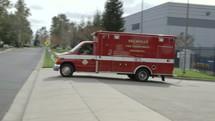 ambulance on a street