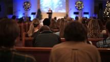 A preacher giving a sermon
