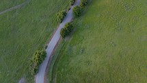 Aerial views of a country road - Multiple shots