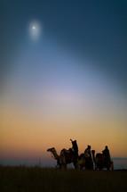 wisemen traveling on camels