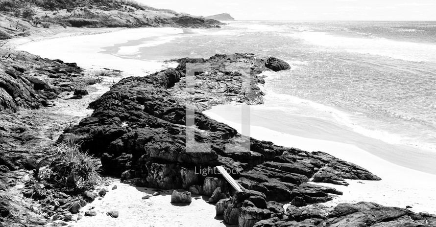 rocks on a shore