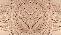 Ornate carved wall.