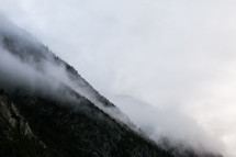 fog over a mountainside