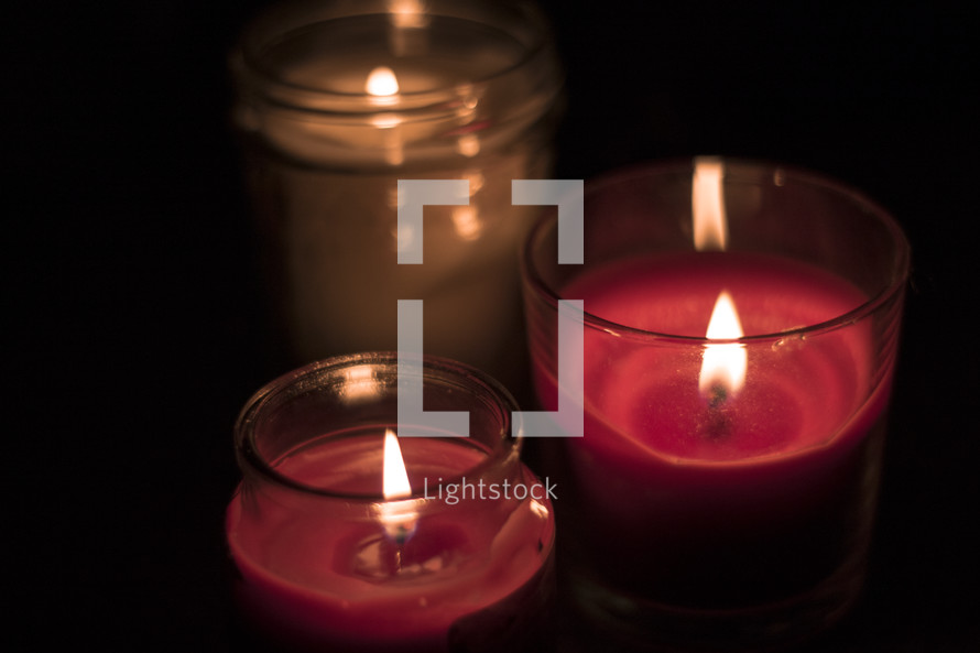flames on candles