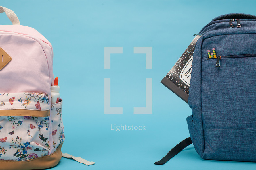 two student book bags
