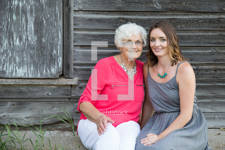 grandmother and adult granddaughter