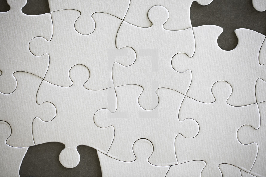 a puzzle with missing pieces