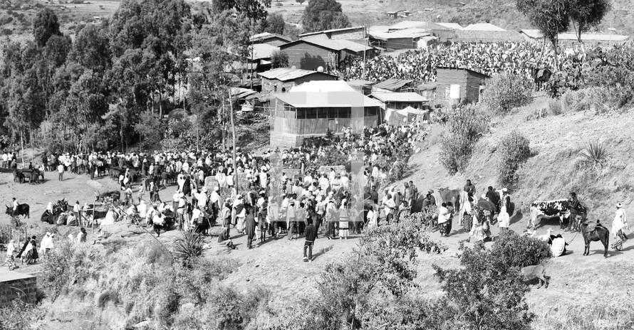 celebration in a village in Ethiopia