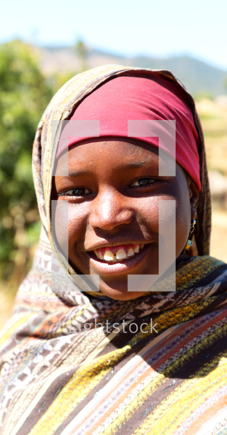 face of a girl in Ethiopia