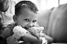 Happy boy smiling