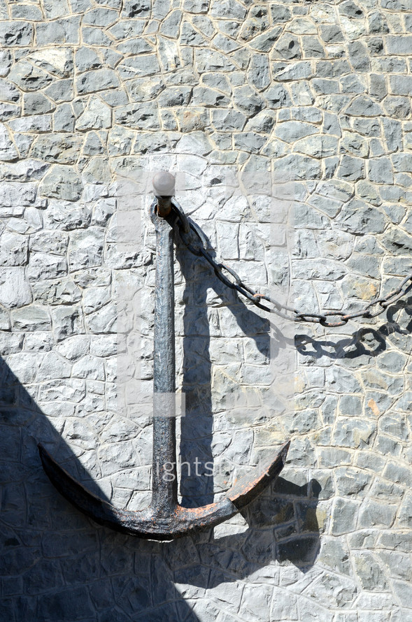 anchor on a wall