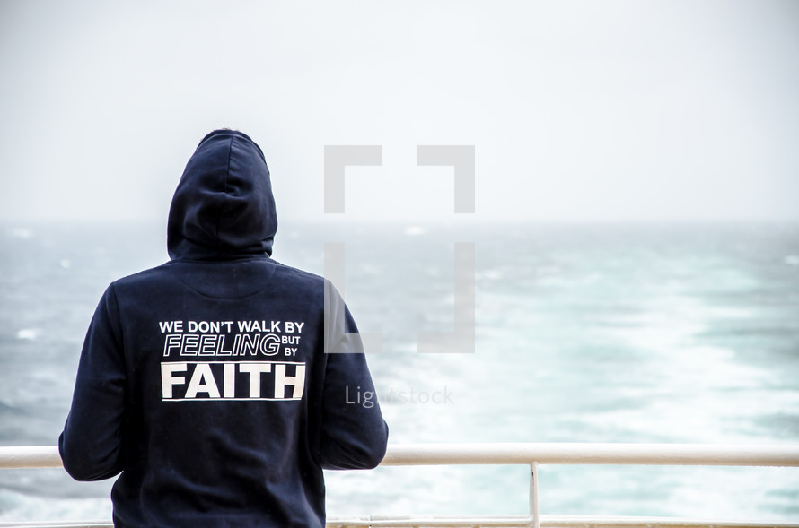 we don't walk by feeling but by faith sweatshirt