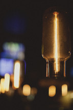 Incandescent light from a lighting fixture