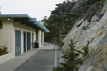 Beach-side restrooms in a California State Park