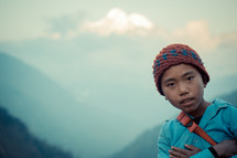 Boy in Gatlang Village, Nepal