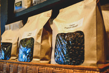 coffee beans in bags