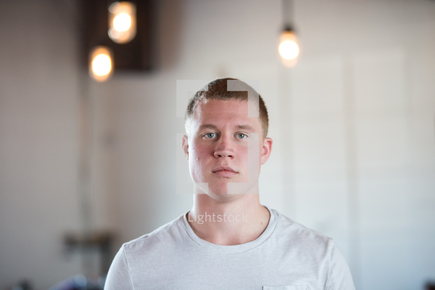 man with a serious look on his face