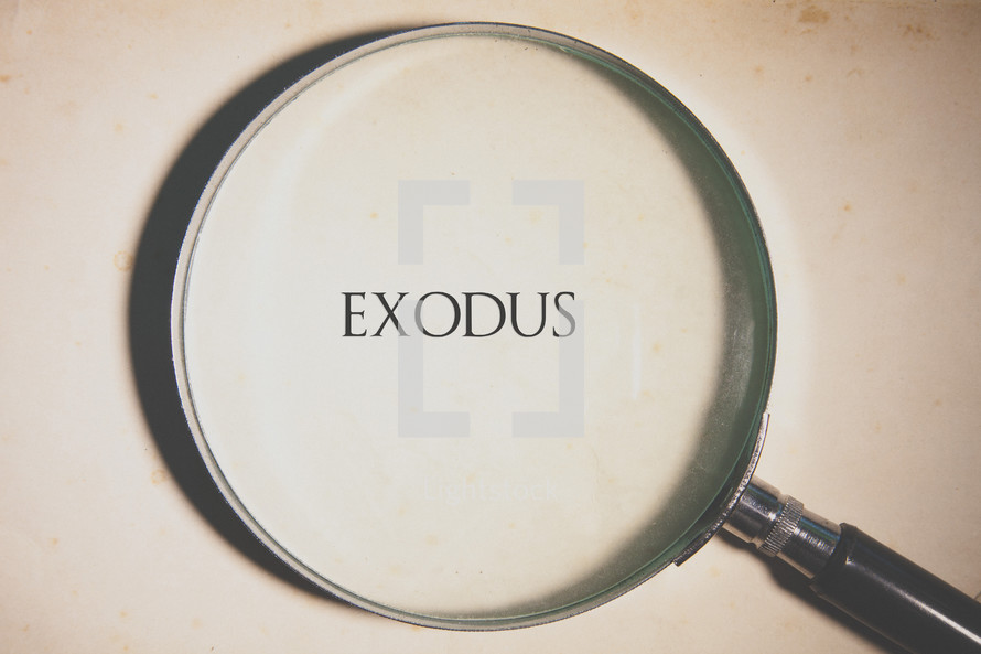 magnifying glass over Exodus