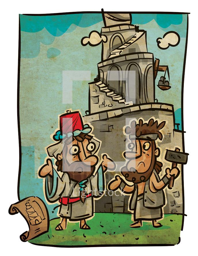 tower of Babel, Babel, biblical scene