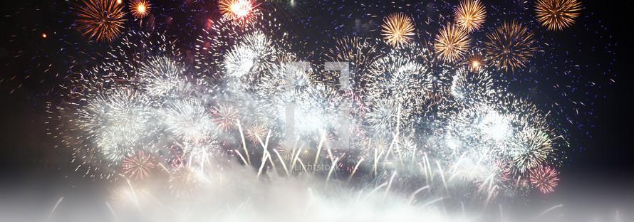 exploding fireworks grand finale