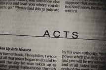 Open Bible book of Acts