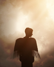a boy with angel wings