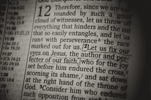 Bible verse - Let us fix our eyes on Jesus