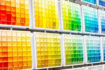 choices, a rainbow paint colors
