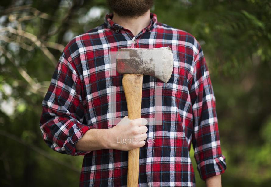 man holding an ax