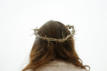 Jesus wearing a crown of thorns